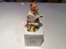 More details for royal albert beatrix potter foxy reading country news mint condition in box
