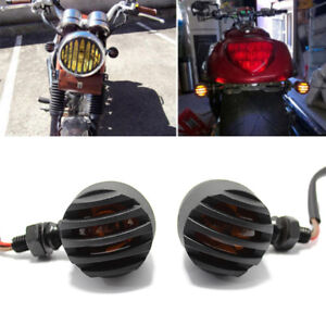 2X MOTORCYCLE TURN SIGNAL INDICATOR LIGHT FOR HARLEY CHOPPER BOBBER CAFE RACER