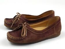Clarks Originals Brown Suede Mocassins Womens Size 7.5 Leather Upper and Lining