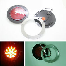 Red Round Brake Turn Signal Rear Tail Light Lamp Waterproof for Truck Trailer RV