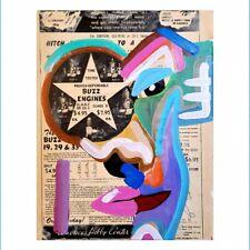 CORBELLIC ART, ORIGINAL PAINTING, GEORGE CONDO STYLE, MUSEUM CANVAS, EXPRESSION