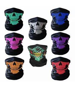 Skull Bandana Face Mask Tube Neck Scarf Skeleton Motorcycle Headband Ski Hood