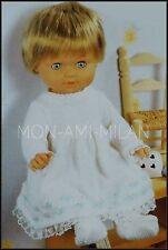 Knitting Pattern DOLLS CLOTHES PREM BABY COAT DRESS BONNET SHOES Tiny Tears Doll