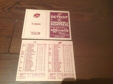 2007 Montreal Canadiens Detroit Red Wings Special Commemorative Lineup Card