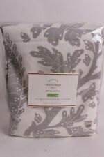 s/2 NWT Pottery Barn Maris Print rod pocket drape panels curtain 50x96 gray