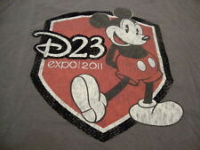 Walt Disney World Disneyland Store Mickey Mouse D23 Expo 2011 Gray T Shirt XL