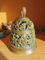 Gothic Brass Bell Figural Antique Victorian Era Reproduction of 15th Cent.