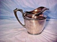 Wallace Bros Silver Co. S/P Pitcher - Decorative Band - V589 OLD STYLE PATTERN