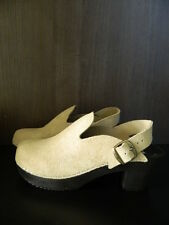 Funkis Suede Clog Heels Size 42