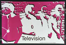 Television promo poster! Tom Verlaine Richard Lloyd Billy Ficca Fred Smith 1992