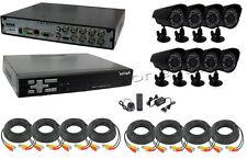 KIT VIDEOSORVEGLIANZA DVR 8 CH+8 TELECAMERA CCD 420 TVL 3,6 MM H.264 3G VGA LAN