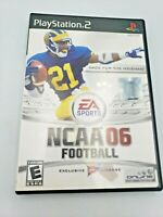 Rare NCAA 06 Football(Sony Playstation 2, 2005)Complete & Tested  Free Shipping