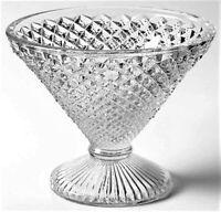 Antique Vintage Depression Glass Art Deco 1920s 1930s English Hobnail Martini
