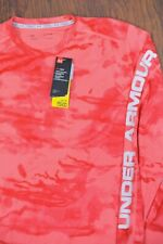 NWT Under Armour Iso-Chill Shore Break Camo LS Shirt Pink/red Men's XL