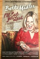 Bette Midler signed I'll Eat You Last 14x22 Broadway Poster. Hello Dolly Beaches