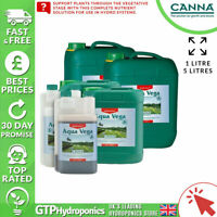 Canna Aqua Vega A+B 1L - Veg Growth Plant Nutrients Hydroponics A&B 1 Litre