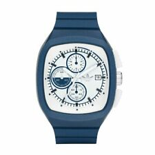 Unisex Adidas Toronto Scuba Lux Chronograph Watch Sport PU Navy Blue ADH2117