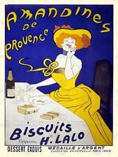 Publicité aliments biscuit amande cookies provence france art imprimé posterabb 6033B