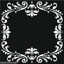 Questo particolare tocco di mica maschere-CORNICE DECORATA-Stencil-embossing-NUOVO