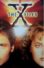 """SCI-FI POSTER~X-Files ORANGE FACES 23x35"""" 1995 Gillian Anderson David Duchovny"""
