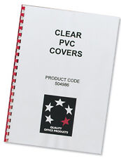COMB BINDING COVERS PVC 150 micron A4 Clear (Pack 100 )