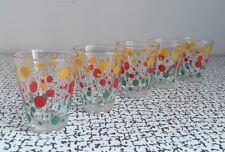 50s 60s Retro Vintage Kitsch Polka Dot Spot Shot Tot Glasses Set 5 Mid Century