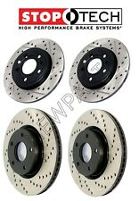 For Cadillac CTS-V Set 2 Front & 2 Rear Sport Drilled & Vented Brake Rotors KIT