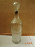 Vintage Decorative Glass Liquor Whiskey Decanter with Glass Stopper