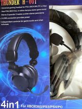Bestsonic 4 in1Universal Gaming Headphone PS4/3/2, Xbox Complete in Original Box