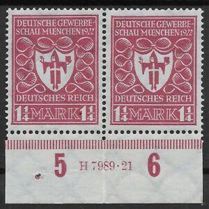 Unterrandpaar der MiNr. 199 mit HAN 7989.21 in postfrischer Erhaltung
