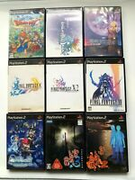 Wholesale Lot 9PLAYSTASION2 RPG SET Final Fantasy DQ from JAPAN PS2 JP NTSC-J