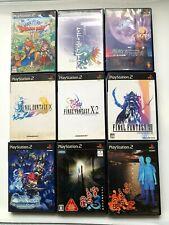 Wholesale Lot 9PLAYSTASION2 RPG SET Final Fantasy DQ from JAPAN PS2 JP NTSC-J
