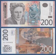 La Serbia/Serbia 200 Dinara 2005 UNC P. 42