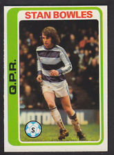 Topps - Footballers (Blue Back) 1979 - # 95 Stan Bowles - QPR