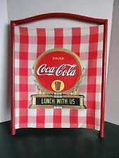 """Coca Cola Folding Chair Back Replacement Cloth W Coke Logo Lunch With Us 21"""""""