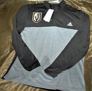 Las Vegas Golden Knights 1/4 zip jacket men's large New w tags Adidas Climalite