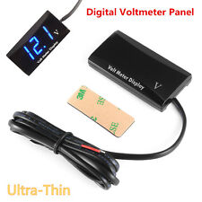 12V Ultra Thin Digital LED Display Voltmeter Voltage Meter Panel For Car Truck