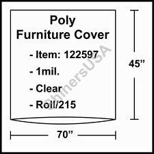 """1 mil Poly Furniture Covers 70""""x45"""" Clear - Roll.215 (122597)"""