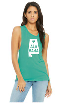 Ladies Love Heart State Muscle Scoop Neck Drapey Fit Tank Top 4 colors Available