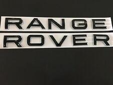 NEW Black RANGE ROVER Trunk Rear Letters Emblem Badge Sticker For LAND ROVER