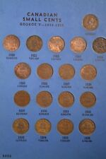 Complete Set of Canada Small Cents ~Nice Condition~ In Whitman Folder ~ Inv C-30