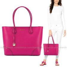 NWT 💕 Michael Kors Mercer Gallery Leather Medium EW Top Zip Tote Ultra Pink