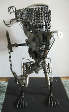 Scrap Metal Predator Sculpture 18''