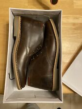 MEN'S STEVE MADDEN P IVON BROWN LEATHER CHUKKA BOOTS SIZE 11.5. New In Box (NIB)