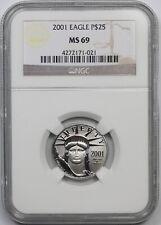 2001 Statue of Liberty Quarter-Ounce Platinum Eagle $25 MS 69 NGC 1/4 oz