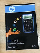 Hewlett Packard Hp 10bll Financial Calculator User's Guide
