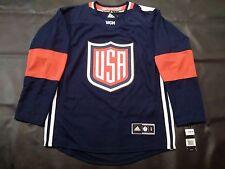 2016 adidas Team USA World Cup of Hockey Premier Jersey Navy Blue XL