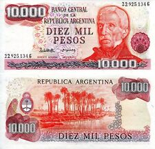 ARGENTINA 10000 Pesos Banknote World Paper Money UNC Currency Pick p306b Bill