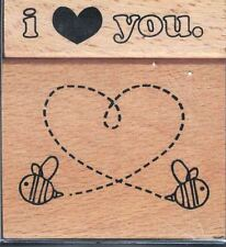 Hampton Art  2011 Ditto LOVE Stamp Set of 2 Mounted Rubber Stamps PS0652 New