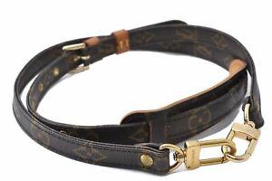 """Authentic Louis Vuitton Monogram Brown Shoulder Strap 39.8-46.9"""" LV D5134"""